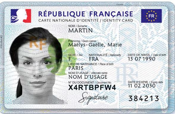 numéro national carte d identité française Carte Nationale d'Identité Sécurisée.   La France en Slovaquie